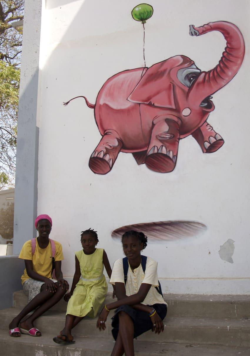 Œuvre  à Dakar