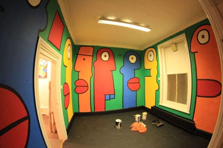 Artwork By Thierry Noir in Chichester