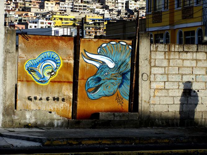 Œuvre Par Guache à Quito