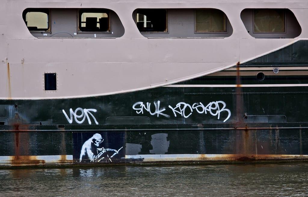 Artwork By Banksy in Bristol