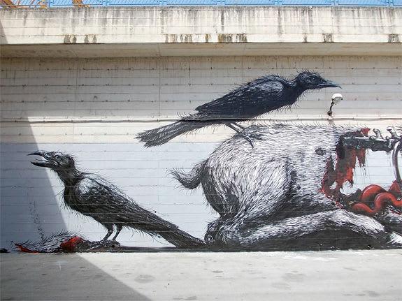 Œuvre Par Roa à Naples