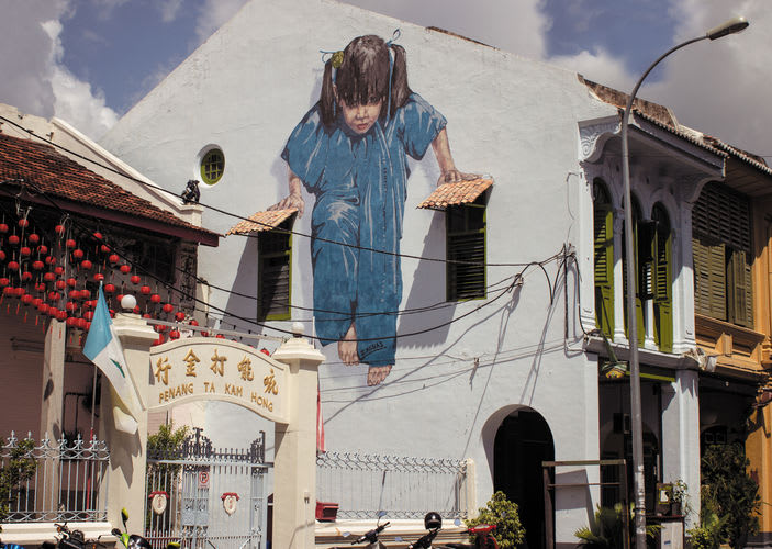 Artwork By ernest zacharevic in Penang