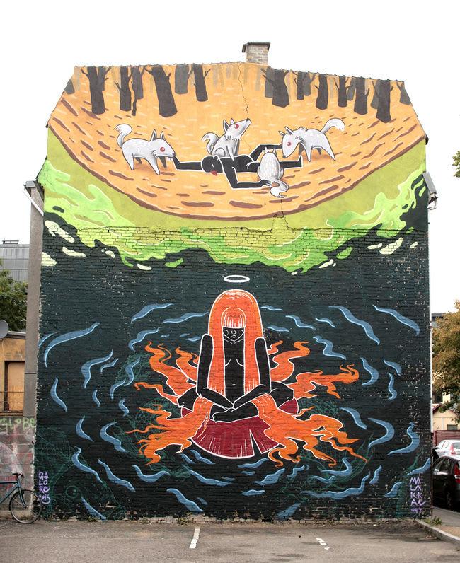 Artwork By Malakkai in Copenhagen