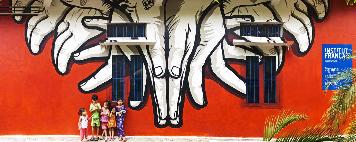 Œuvre  à Siem Reap