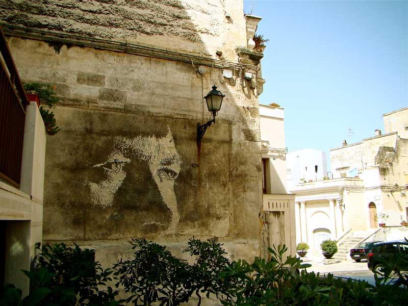 Œuvre Par Vhils à Rome