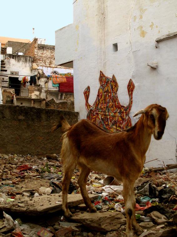 Œuvre  à Udaipur