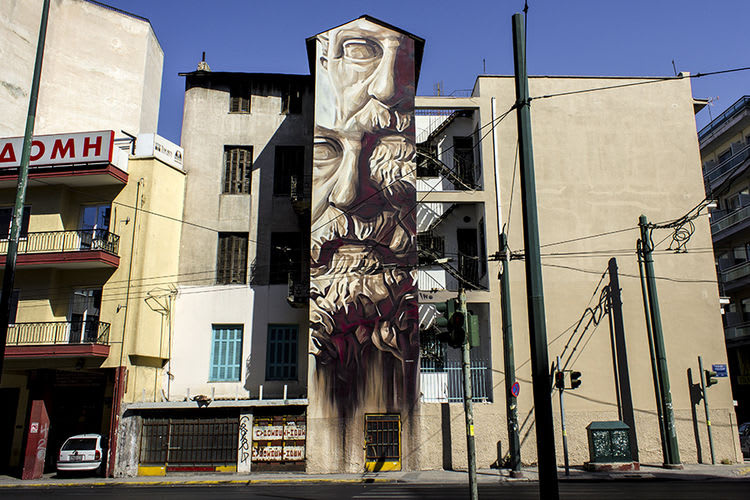 Œuvre Par iNO 1  à Athènes