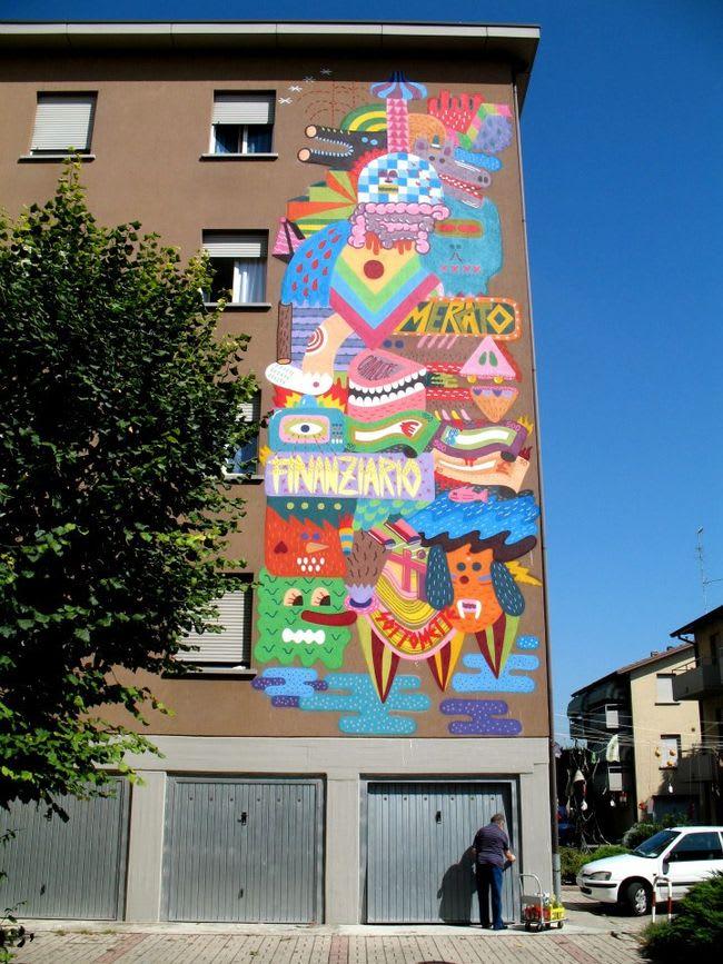 Œuvre  à Reggio d'Émilie
