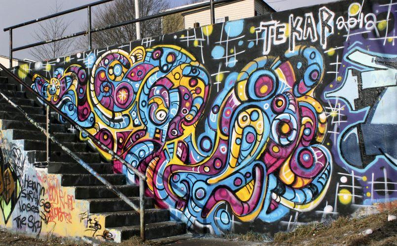 Œuvre Par Tekar à Saint-Jean de Terre-Neuve