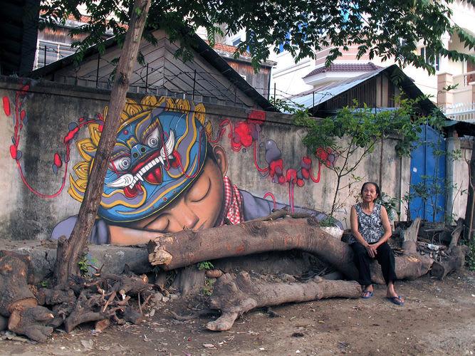 Œuvre Par Julien Seth Mailland à Phnom Penh