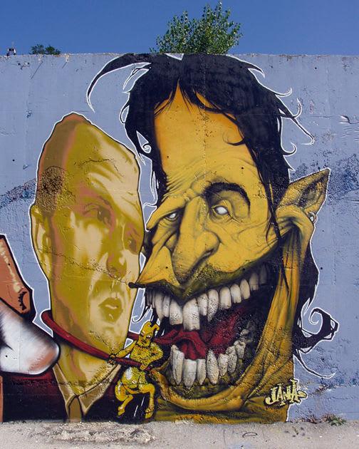 Artwork  in Sarajevo