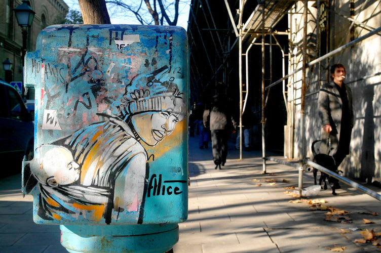 Artwork By Alice Pasquini in Madrid