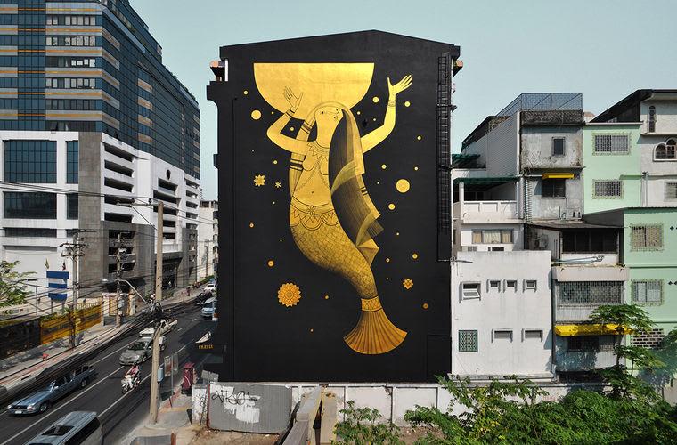 Artwork By Fikos in Bangkok