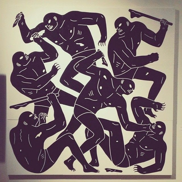 Artwork By Cleon Peterson in Chicago