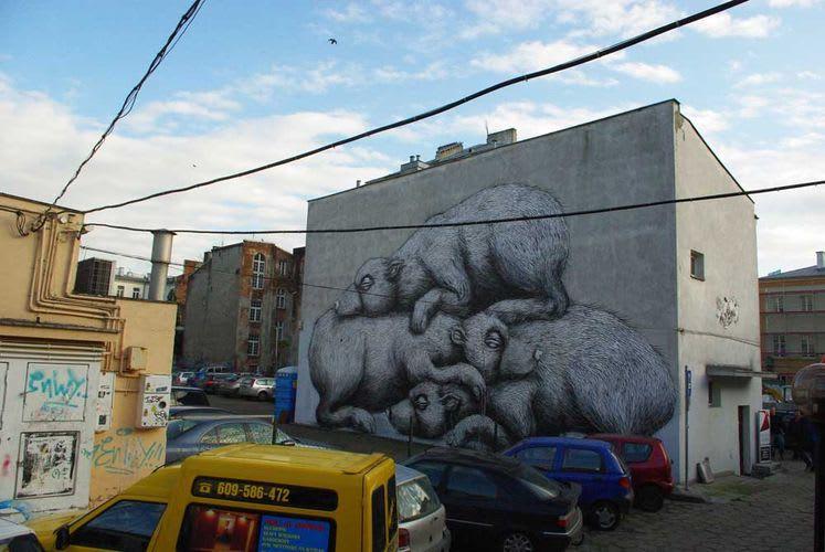 Artwork By Roa in Warsaw