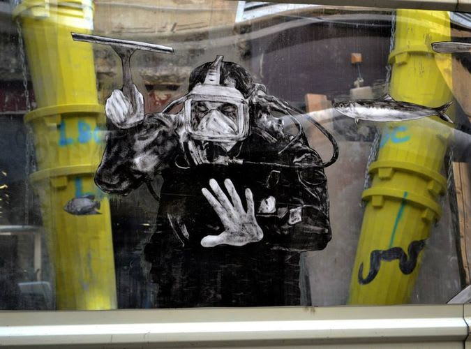 Artwork By Levalet in Paris