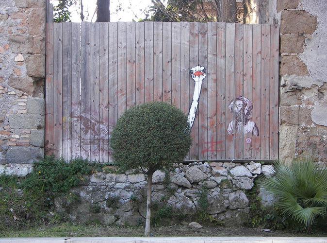 Œuvre Par C215, Pao  à Rome