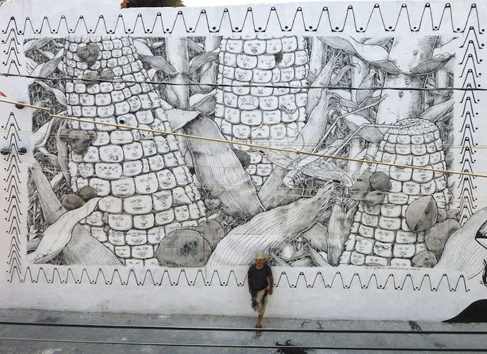 Œuvre  à Puebla