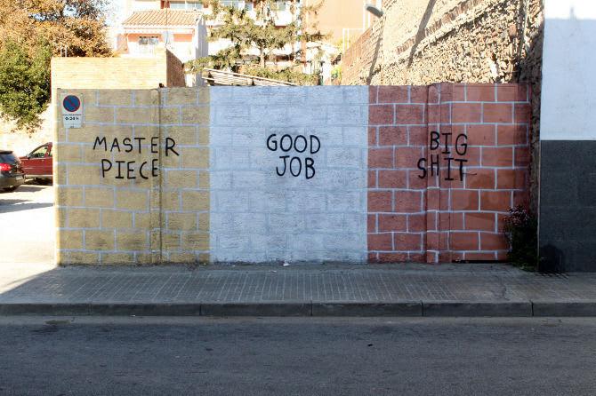 Œuvre Par Faif à Barcelone