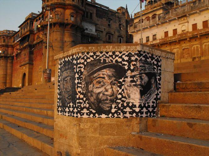 Artwork  in Varanasi