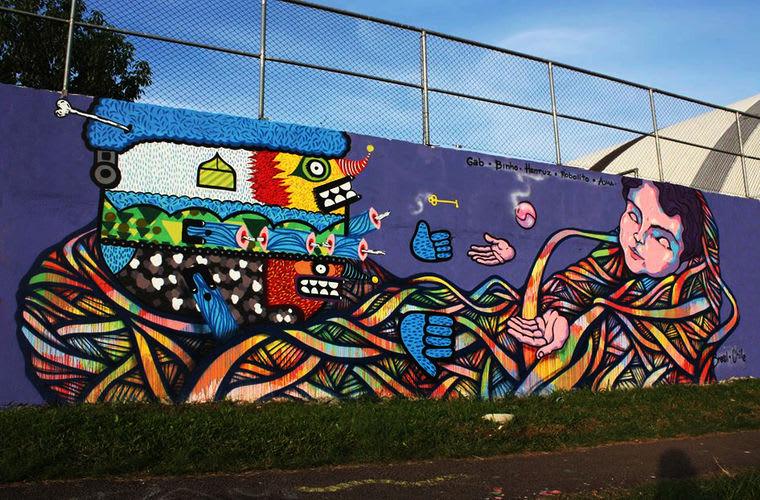 Œuvre Par Henruz, Auma à Curitiba