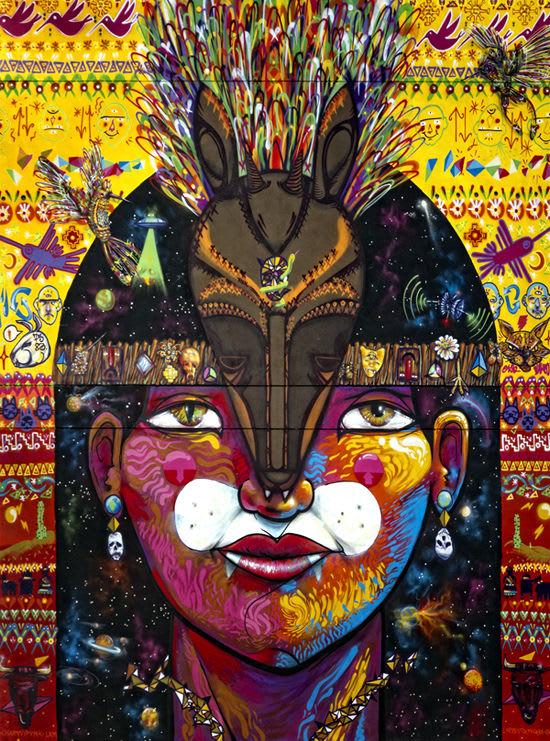 Artwork By Sebastian Navarro - Charquipunk in Santiago