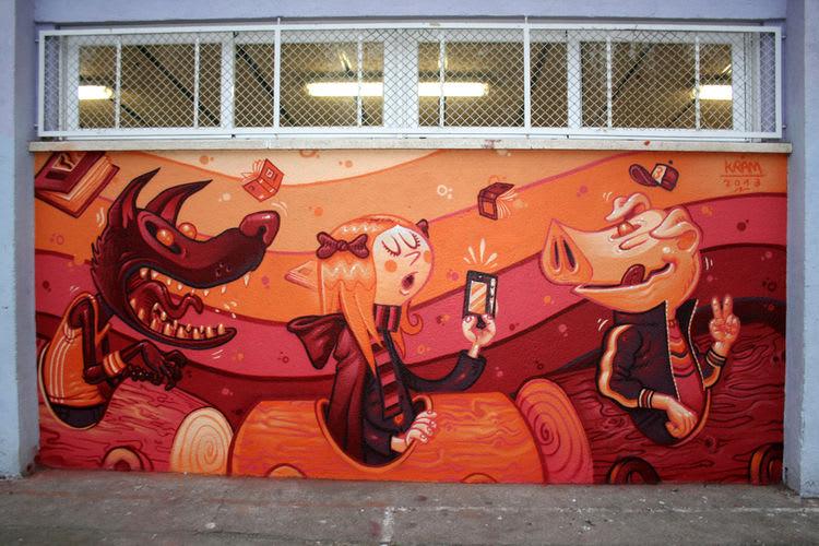 Œuvre Par kram à Barcelone