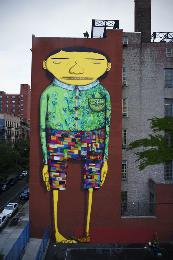 Artwork By Os Gemeos, Futura 2000 in New York City