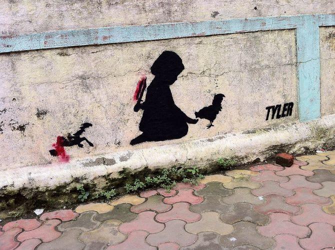 Œuvre Par Tyler à Bombay