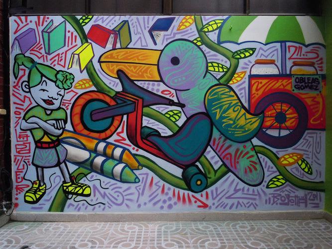Œuvre Par Maspaz à Bogota