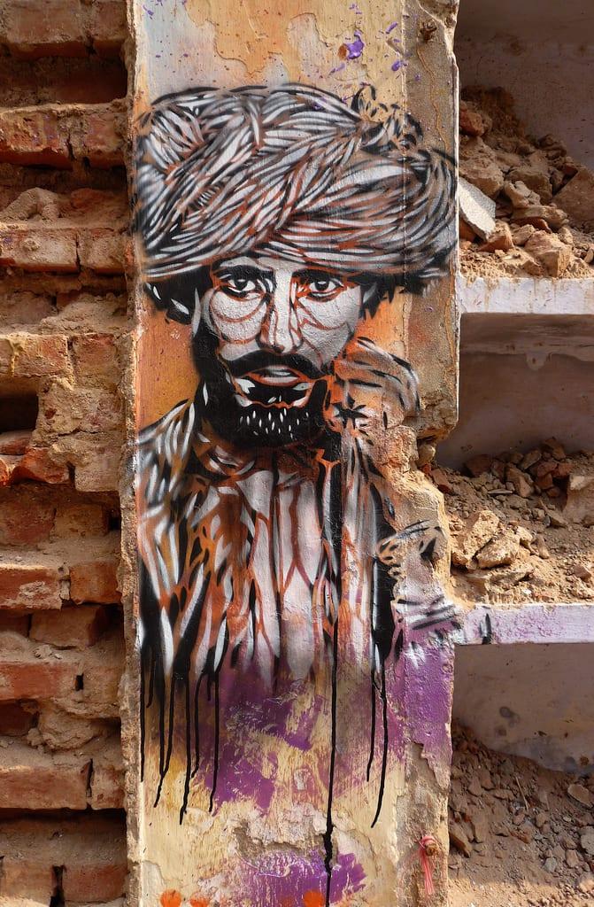 Artwork By C215 in Delhi