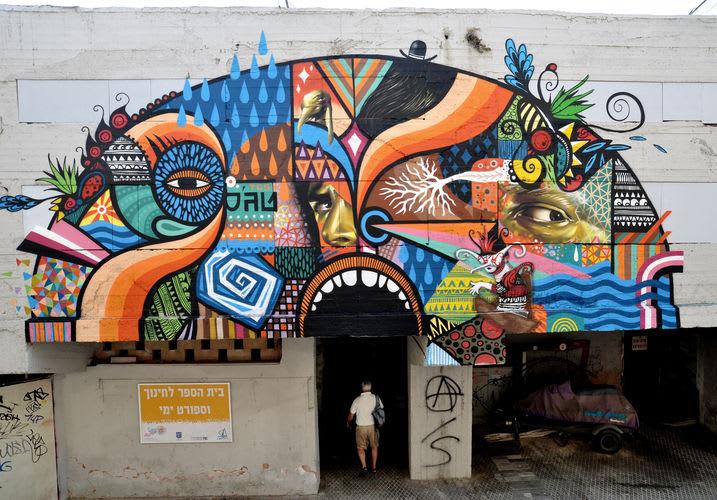 Œuvre Par jack, Beastman, Skount à Tel Aviv-Jaffa