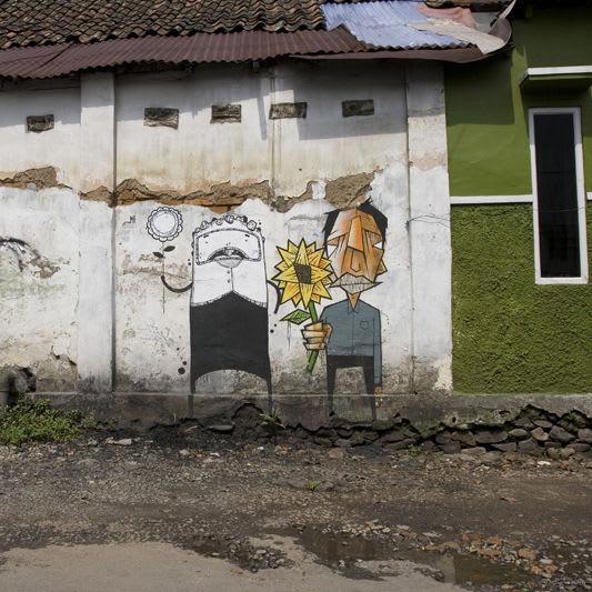 Œuvre Par Stereoflow, Astronautboys à Bandung