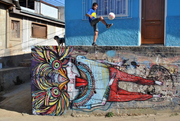 Œuvre Par Julien Seth Mailland à Valparaíso