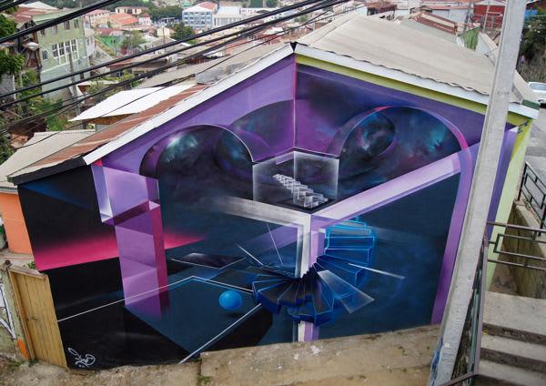 Œuvre Par Claudio Drë à Valparaíso