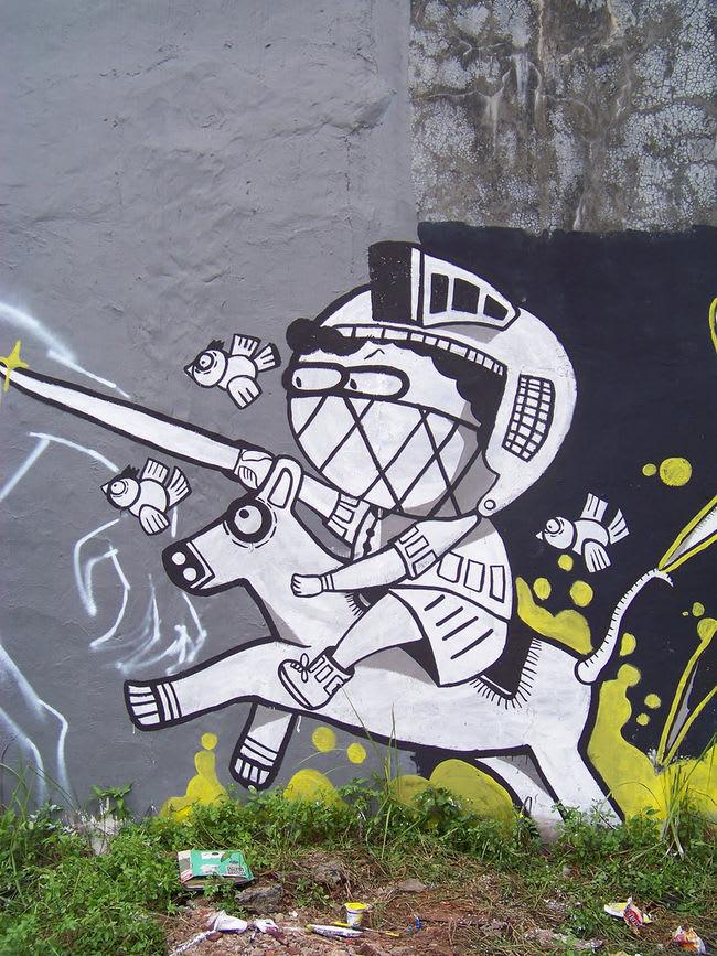 Œuvre Par Os Gemeos, Gula Ly à Djakarta centre, Jakarta