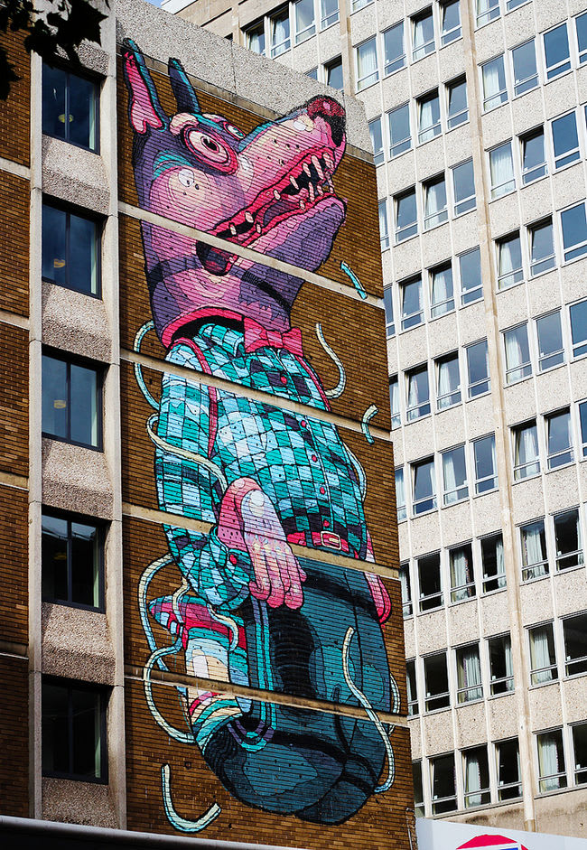 Artwork By Aryz in Bristol