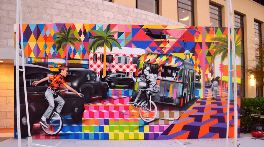 Œuvre Par Eduardo Kobra à Miami