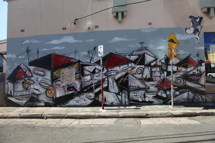 Œuvre Par Anthony Lister, Phibs à Sydney