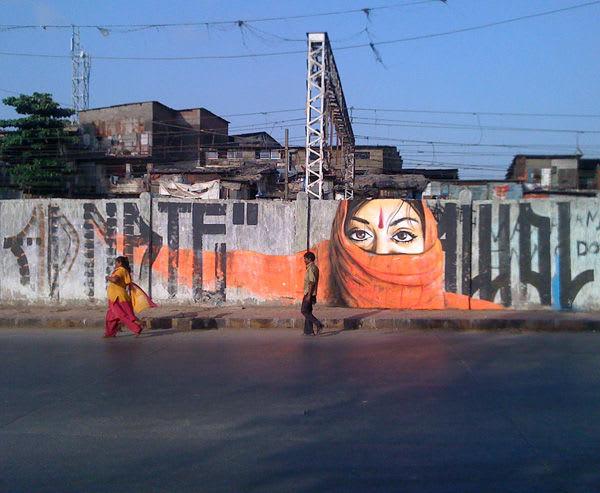 Œuvre Par Adnate à Bombay