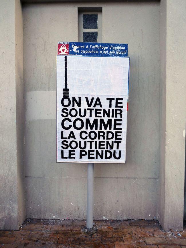 Œuvre Par Monsieur Poulet à Bordeaux