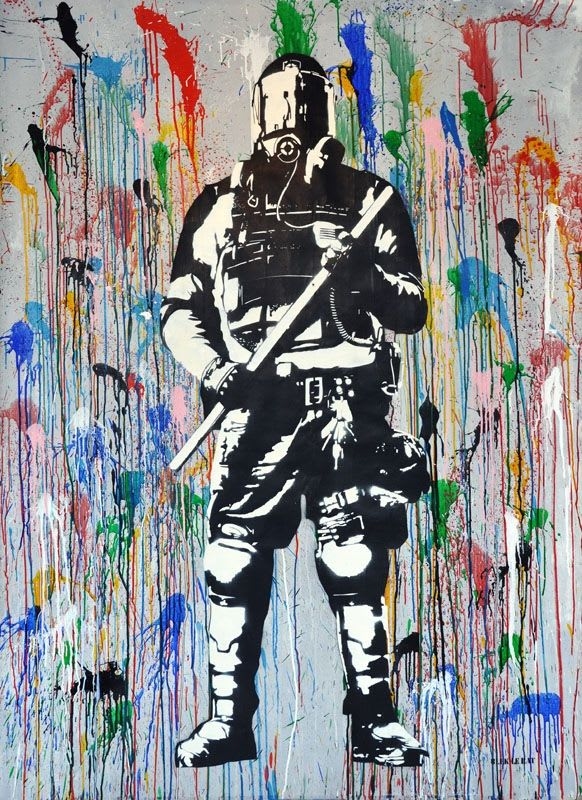 Artwork By Blek Le Rat in Greenwich