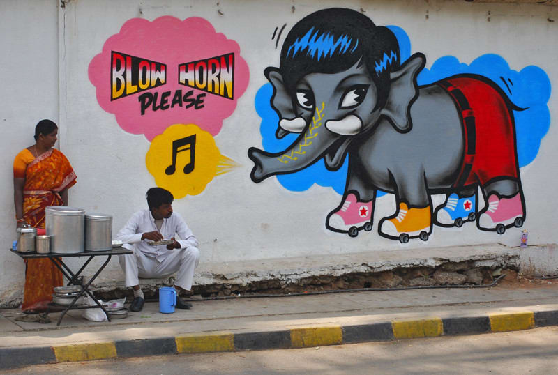 Artwork By Poch Rock in Bangalore