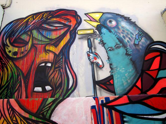 Œuvre Par Henruz, Nebs Pereira à Santiago