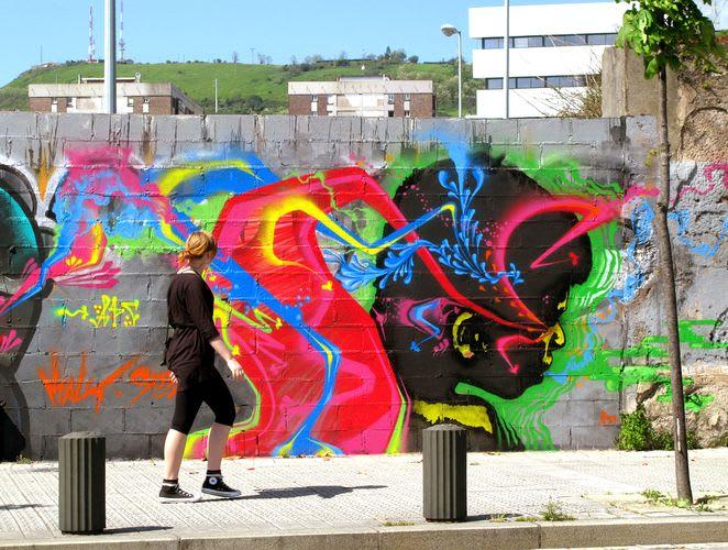 Œuvre Par stinkfish à Bilbao