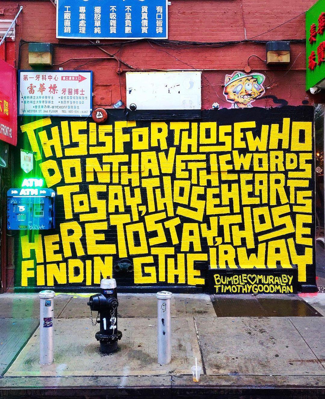 Œuvre Par Timothy Goodman à New York