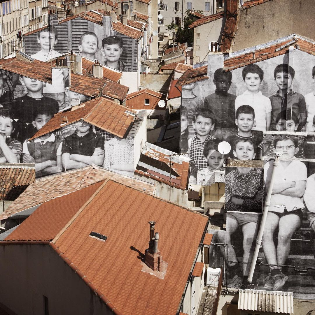 Œuvre Par JR à Marseille