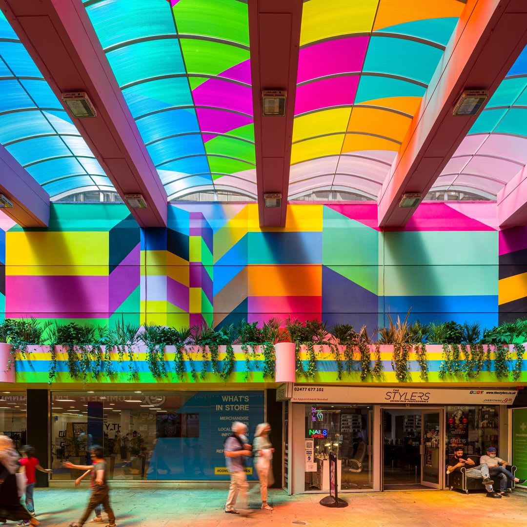 Artwork By Morag Myerscough in Coventry