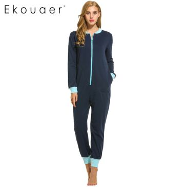 0c0e55be7256 Ekouaer Women s Jumpsuit is one of the best pajamas help keep you cozy  without restricting foot movement. Like several of the other best pajamas