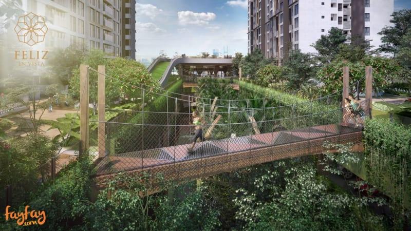 Treetop Adventure Walk Bridge
